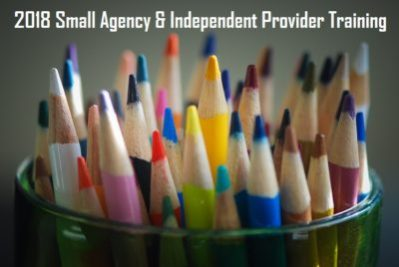 2018 Annual Small Agency and Independent Provider Certification Training